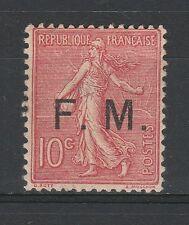 FRANCOBOLLI 1906 FRANCIA FRANCOBOLLI DI FRANCHIGIA C. 10 MLH Z/4377