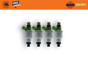 1995 - 1996 Mazda Protege Nikki Fuel Injectors Set 4 INP484 USA