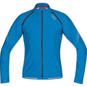 Gore Magnitude Men's Soft Shell Zip Off Running Shirt - Splash Blue - S - BNWT
