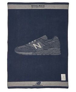 "Woolrich John Rich & Bros. x New Balance 46""x70"" Wool Blanket Made in USA $300"