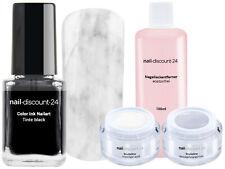 Ink Color Starter Set Marmor NailArt Farbe Tinte Polish Blooming Cleaner UV Gel