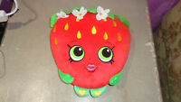 "Shopkins Strawberry Kiss Scented Plush Pillow 15"" Red Moose Toys"