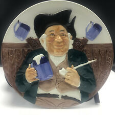 GLADSTONE POTTERY DAVENPORT COLLECTORS PLATE England toby 1984 beer pipe trent