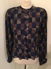 Vintage 80's Koos Van Den Akker Couture Top Blouse Button Down EUC