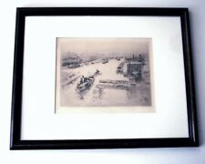 WILLIAM WALCOT - The Tyne - Signed Etching Framed Newcastle Great Britain