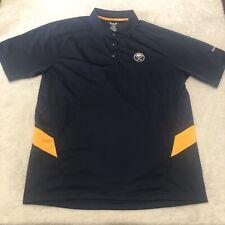 Buffalo Sabres Polo Shirt Adult Extra Large Blue Yellow Reebok Men's Hockey Nhl