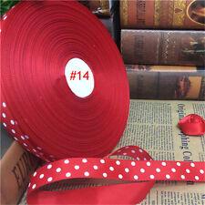 10 yds 20mm Red Grosgrain Ribbon Polka Dot Hair Bows Headband Wedding Craft