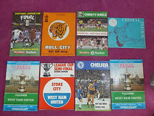 More details for 8 vintage  football programmes westham 1971 - 75 1980 - 81 one written on harry