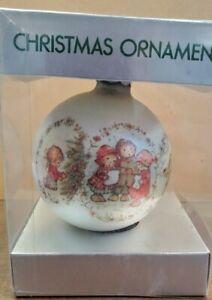 Carolers Glass Ornament bulb Christmas 1974