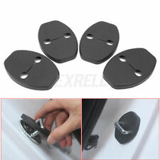 4X  BLACK Door Lock Striker Protective Covers For Audi A3 A5 A6 A7 A8L NEW A6L