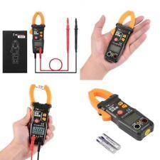 Clamp Multimeter Digital On Meter AC DC Voltmeter Auto Range Volt Ohm Amp Tester