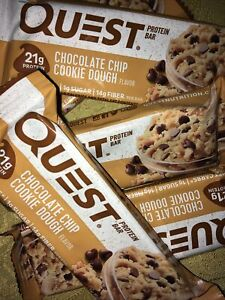 34 Quest Nutrition Chocolate Chip Cookie Dough Protein Bars