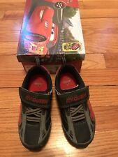 Disney Lighting McQueen Cars Toddler Boy Sneakers Shoes sz 9 EUC