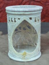 """4"""" Marble Lamp Natural Stone Night Lamp Hand Carving Art Decor Best Gifts H713"""