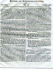 Beilage zur Allgemeinen Zeitung Nro. 93 7 Junius 1821