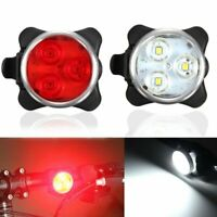 3LED USB Rechargeable Bicycle Light Bike Head Front Rear Cycling Tail Clip Lamp