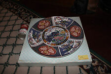 Superb Japan Imari Large Cabinet Plate-New W/Box-Marked SM-Floral Birds-Asian