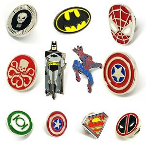 Superhero Star Trek Movie Characters Logo Enamel Pin Badge DC Marvel Comics   UK