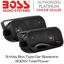 Boss Audio AVA-6200 - 3-Way Box Type Car Speakers 200W Total Power BNIB