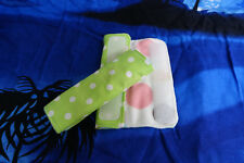 Handmade Infant Seatbelt Cover reversible (Style Dots), Baby Neck Protector