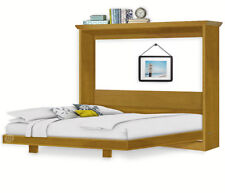 8-Panel Horizontal Queen Wall Bed Plans / Murphy Woodworking Plans, 7QHWB