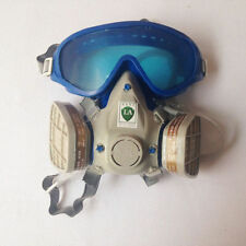 Safety Protection Gas Mask Double Filter Respirators + Goggles Glasses