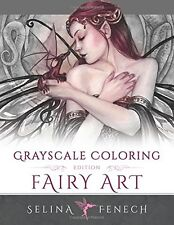Fairy Art - Grayscale Coloring Edition (Grayscale Coloring Books by Selina) (Vol
