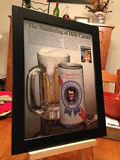 "FRAMED ORIGINAL JIMMY & ""BILLY BEER"" CARTER PLAYBOY MAGAZINE INTERVIEW PROMO AD"