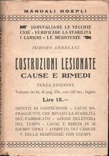 1927 – ANDREANI, COSTRUZIONI LESIONATE. CAUSE E RIMEDI – INGEGNERIA RESTAURO