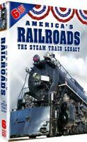 America's Railroads: The Complete Steam Train Legacy [New DVD] Slim Pa