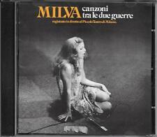 """MILVA - RARO CD FUORI CATALOGO """" CANZONI TRA LE DUE GUERRE """""""