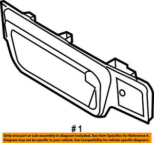 Ram CHRYSLER OEM Back Door-Handle Outside Exterior Left 68311690AA