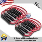 10pcs 10 Gauge AGC InLine Twist Type Fuse Holder 100% OFC Copper Wire Cable Boat
