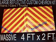 REFLECTIVE CHEVRONS RECOVERY TRUCK TRAILER PLANT SAFETY CHERRY PICKER FORKLIFT