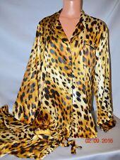 Victorias Secret Leopard Afterhours Silky Satin Pajama Set Pajamas NWT M