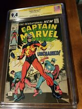 Captain Marvel 17 cgc ss 9.4 white Roy Thomas Captain America