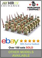24 Minifigures USA Army 1 Soldiers Military WW2 World War II Allies