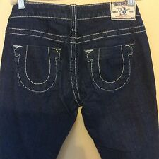 TRUE RELIGION JHONNY WOMENS STRAIGHT LEG JEANS SZ 27/33
