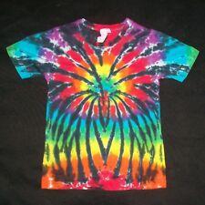 Organic Tie Dye Child T-Shirt 6 Rainbow Spider Hippie Hand Tye Dyed Fair Trade