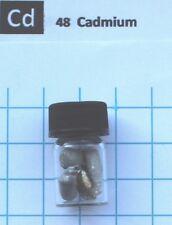 5 gram 99.98% Cadmium metal pellets in glass vial  - Pure Element 48 sample