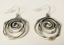 Premier Designs Jewelry Silver Swirl Earrings RV$23