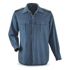 NEW Genuine Italian Air Force Wool Flannel Shirt Surplus Long Sleeve Field Jacke