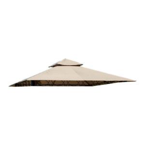 Telo top copertura di ricambio per gazebo Eden 3x3 mt beige scuro con airvent