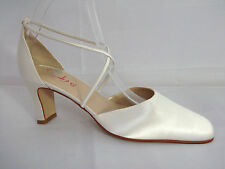 Rainbow Club Strappy/Ankle Straps Satin Bridal Shoes
