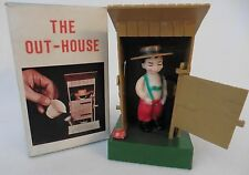 Vintage Adult Toy Novelty OUT HOUSE Peeing Man Complete in Box 1960s