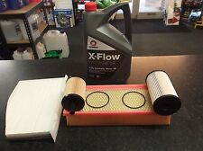 VW GOLF MK5 1.9TDI 2.0TDI SERVICE KIT OIL FUEL AIR CABIN FILTERS 5L XFLOW