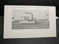 Steamer CHARLES MACALESTER Naval Cover unused postcard MOUNT VERNON