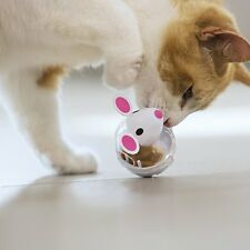 Mouse Shaped Cat Toy Treats Kitten Snack Dispenser Rewards Kitty While Playing