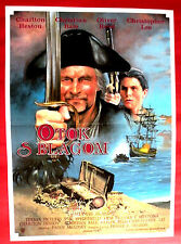 TREASURE ISLAND 1990 CHARLTON HESTON CHRISTOPHER LEE BALE REED EXYU MOVIE POSTER