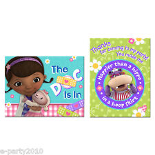 DOC MCSTUFFINS INVITATIONS and THANK YOU NOTES (8) ~ Birthday Party Supplies